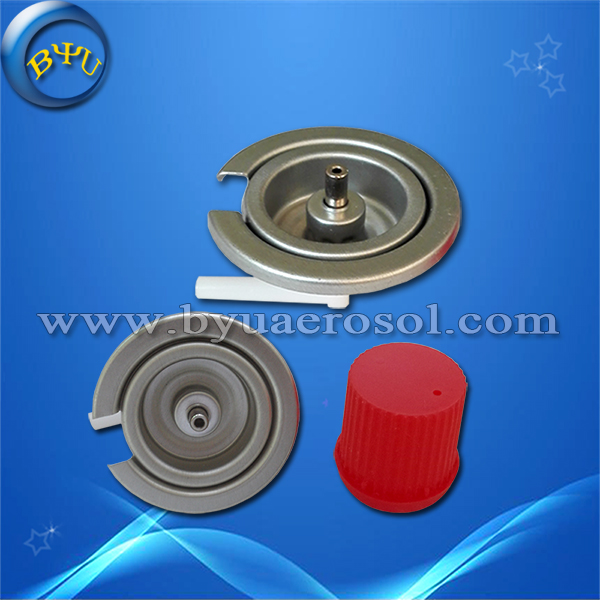 Portable gas stove valve with red cap
